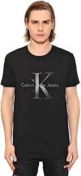 Calvin Klein Jeans Logo Print Cotton Jersey T-Shirt