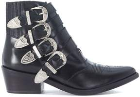 Toga Pulla Texan In Opaque Black Leather