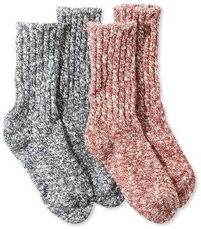 L.L. Bean Kids' Cotton Ragg Socks, Two-Pack