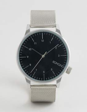 Komono Winston Royale Mesh Watch In Silver