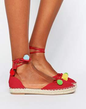 London Rebel PomPom Espadrille