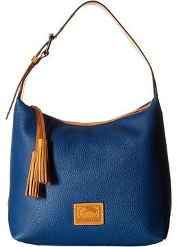 Dooney & Bourke Patterson Paige Sac Satchel Handbags - GREY/BUTTERSCOTCH TRIM - STYLE