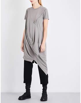Drkshdw Asymmetric cotton-jersey top