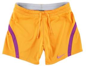 Nike Girls Running Athletic Workout Shorts Orange S - Big Kids (8-20)