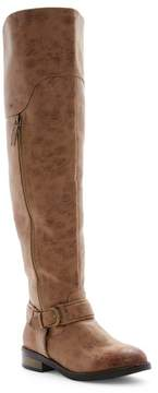 Restricted Paintbrush Over-the-Knee Boot