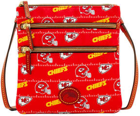 Dooney & Bourke Kansas City Chiefs Nylon Triple Zip Crossbody - RED - STYLE