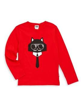 Karl Lagerfeld Toddler's, Little Boy's & Boy's Bad Cat Cotton Tee