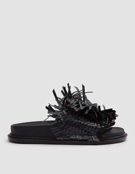 MM6 MAISON MARGIELA Fake Leather Fringe Slide