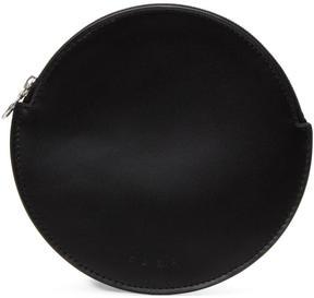 Kara Black Flat Circle Pouch