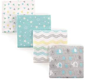 Luvable Friends Gray Elephant Flannel Receiving Blanket Set