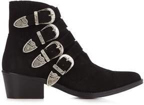 Toga Buckle suede ankle boots