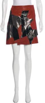 Rodarte Leather Mini Skirt