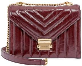 Michael Kors Whitney Large Quilted Leather Shoulder Bag - Oxblood