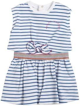Little Marc Jacobs Striped Cotton Jersey Dress