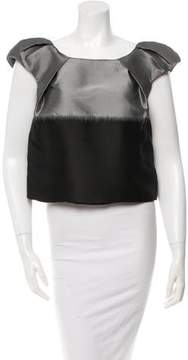 Behnaz Sarafpour Cap Sleeve Pleated Top