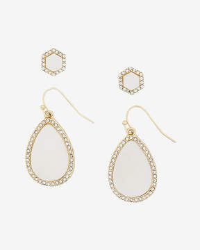 Express Set Of Two Embellished Teardrop And Stud Earrings