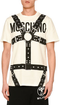 Moschino Harness Logo Crewneck T-Shirt