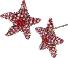 Betsey Johnson CRABBY COUTURE CORAL STARFISH EARRINGS