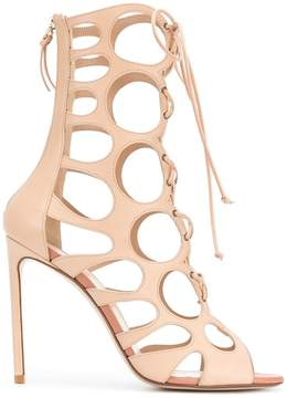 Francesco Russo laser-cut boot sandals