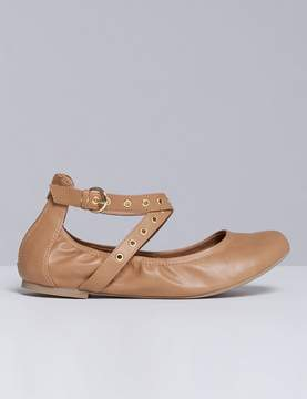 Lane Bryant Ballet Flat with Grommet Ankle Straps