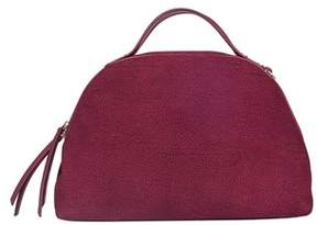 Borbonese Women's Purple Leather Handbag.