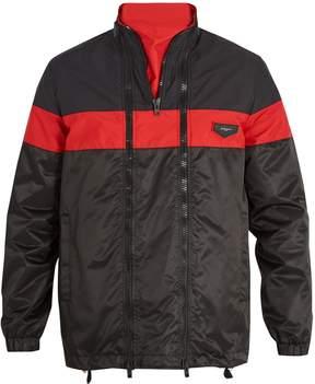 Givenchy Contrast-stripe triple-zip jacket