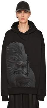 Juun.J Hooded Gorilla Printed Jersey Sweatshirt