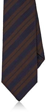 Isaia Men's Striped Silk-Cotton Satin Seven-Fold Necktie