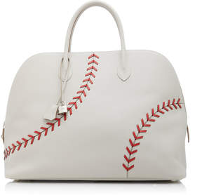Hermes Vintage by Heritage Auctions 45cm Gris Perle and Rogue Evercolor Leather Baseball Bolide