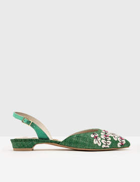 Boden Caterina Embroidered Slingback