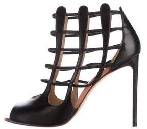 Francesco Russo Leather Caged Sandals w/ Tags