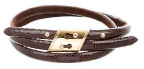 Marc Jacobs Embossed Leather Belt