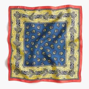 J.Crew Square silk scarf in vintage paisley