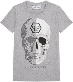Philipp Plein Diamanté Skull T-Shirt