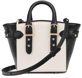 Aspinal of London Micro Marylebone Tote In Monochrome Saffiano