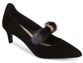 Donald J Pliner Women's Blake Genuine Mink Fur Pump
