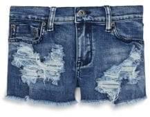 Vintage Havana Girl's Distressed Denim Shorts