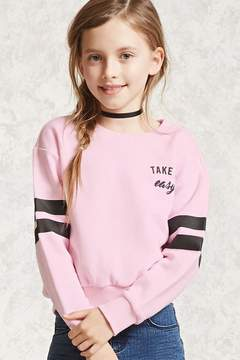 Forever 21 Girls Graphic Sweatshirt (Kids)