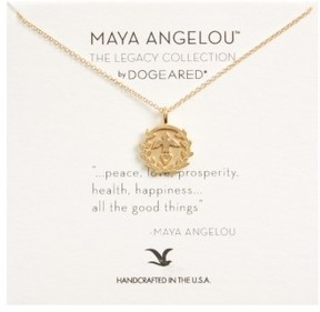 Dogeared Women's Legacy - Peace Love Prosperity Multi-Icon Pendant Necklace