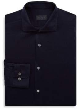 Pal Zileri Cotton Knit Dress Shirt