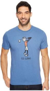 Life is Good Go Long Golf Crusher Tee Men's Short Sleeve Pullover