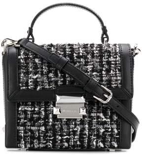 MICHAEL Michael Kors Jayne small trunk tweed bag