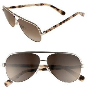 Jimmy Choo Women's 'Linas' 59Mm Aviator Sunglasses - Light Gold