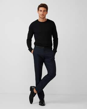 Express Slim Navy Wool-Blend Dobby Tuxedo Pant