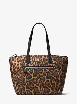 Michael Kors Kelsey Leopard Nylon Tote - BROWN - STYLE