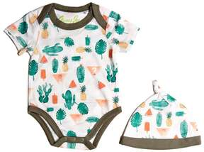 GUESS Bodysuit and Hat Set (0-24M)