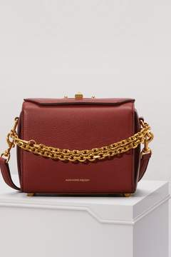Alexander McQueen Grained Leather Shoulder Box Bag