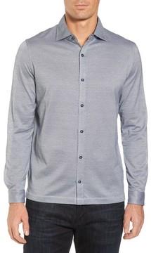 Bugatchi Men's Print Knit Sport Shirt