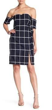 J.o.a. Off-the-Shoulder Print Dress