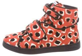 Gucci Kids' Ponyhair High-Top Sneakers w/ Tags